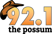 92.1 The Possum logo - Tuscaloosa Country radio